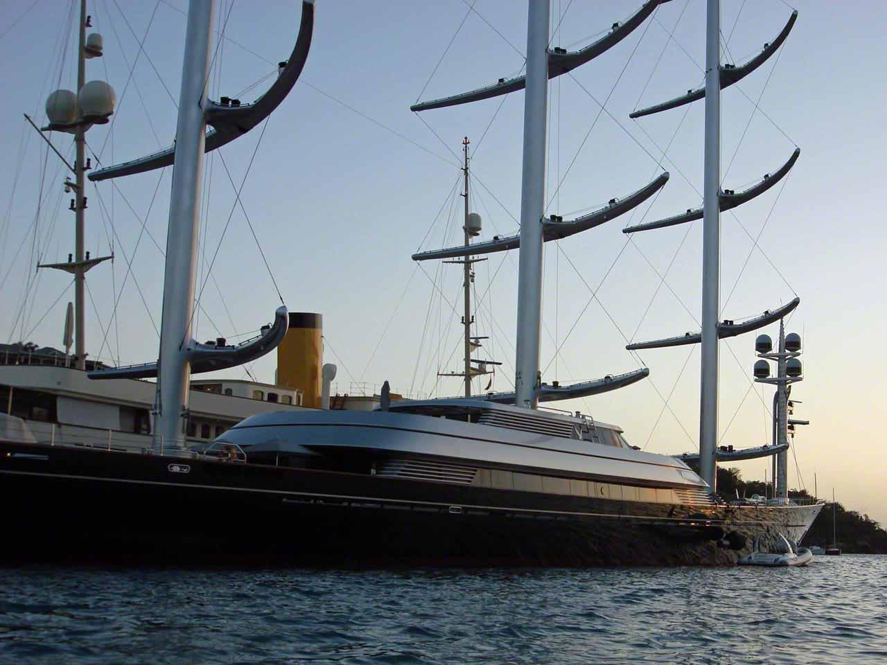 Maltese Falcon at the dock