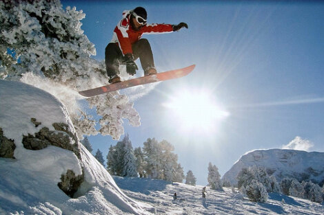 Сноуборд с солнечными панелями