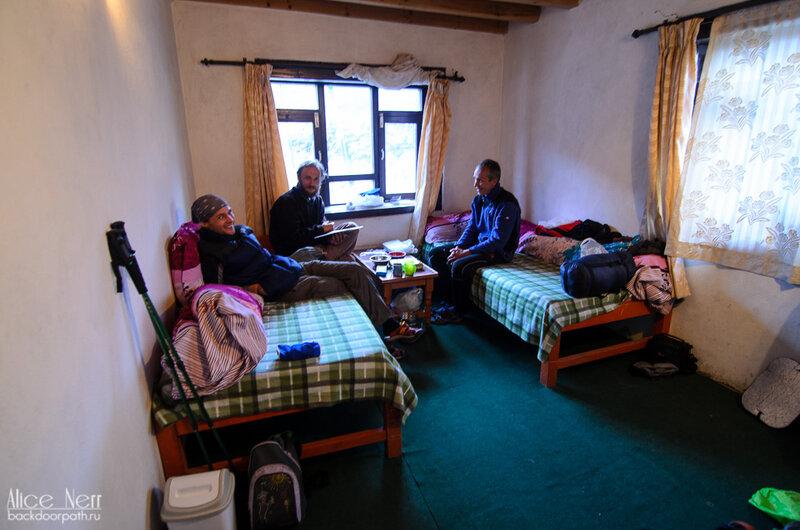 моя комната в гестхаусе Red House в Какбени, Гималаи, Непал