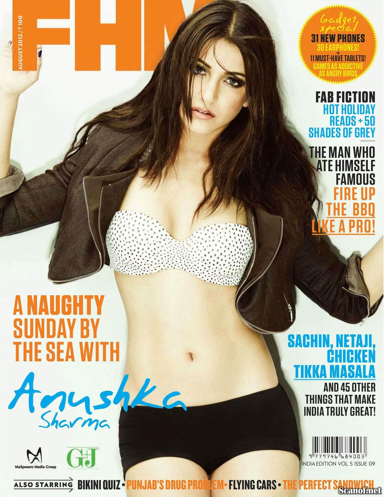 Анушка Шарма (Anushka Sharma) фото в журнале FHM Индия, август 2012