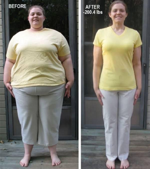 фото людей которые похудели до и после