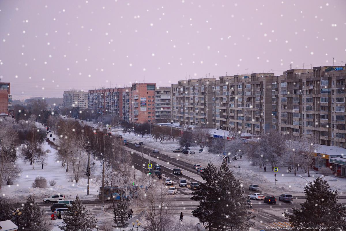Картинки комсомольск на амуре зима, нарисовать
