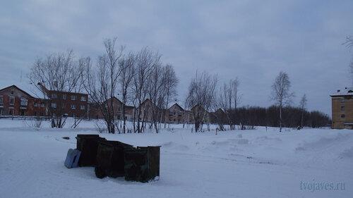 Фотография Инты №2820  Коммунистическая 10, 9, 8, 7 и Гагарина 9 31.01.2013_13:30