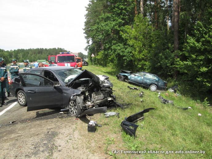 Молодая семейная пара погибла в лобовом ДТП в Гомельском районе