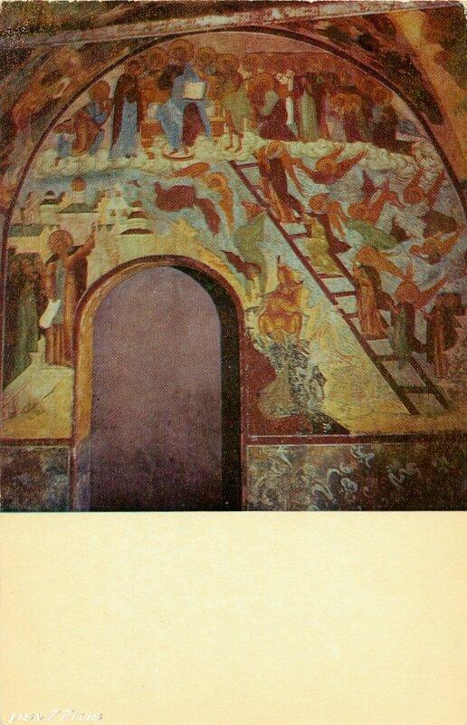 Ростов Великий.  Фреска церкви Вознесения. XVII век.