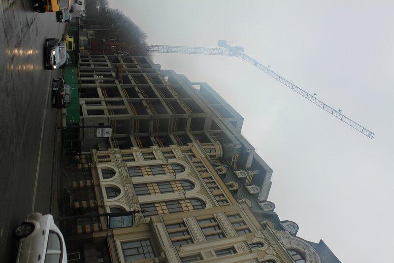 Строительство на улице Сагайдачного