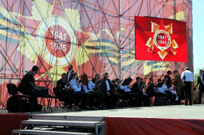 Сцена концерта Дня Победы 2013 в Киеве