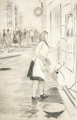 Юрий Иванович Пименов  (1903, Москва – 1977, Москва).. Обыкновенное утро, 1957.