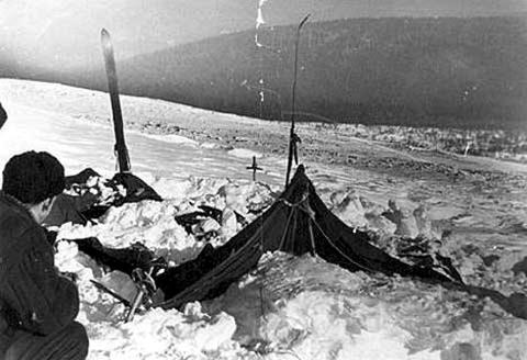 Палатка группы Дятлова, найденная поисковиками