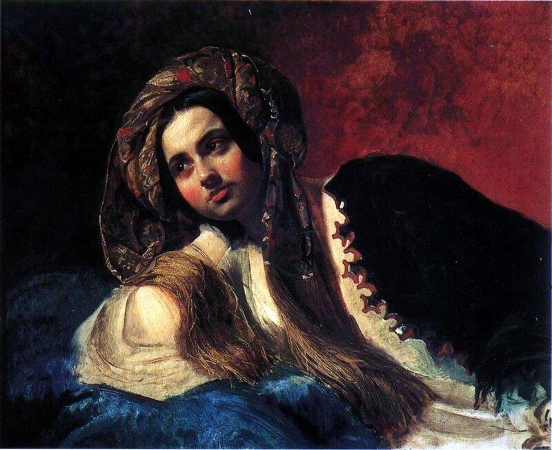 Карл Брюллов, живопись, картины, Турчанка