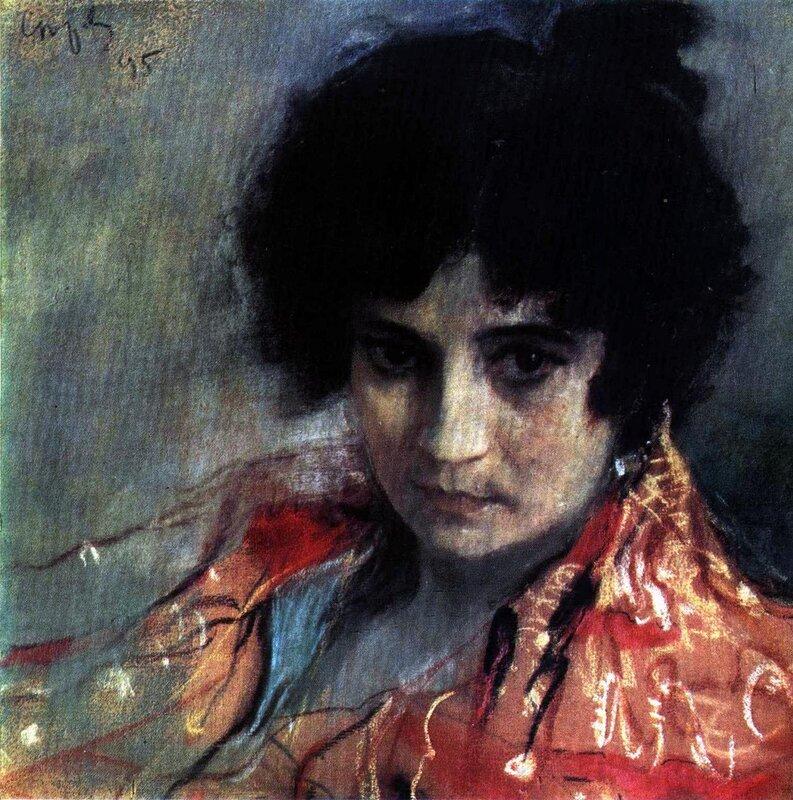 Русские художники, музеи, картины, В.А. Серов, Портрет неизвестной