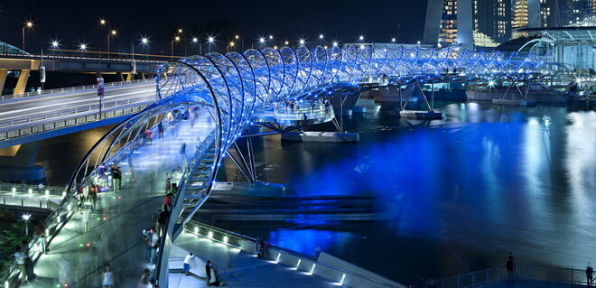 Мост Хеликс (Helix Bridge). Сингапур