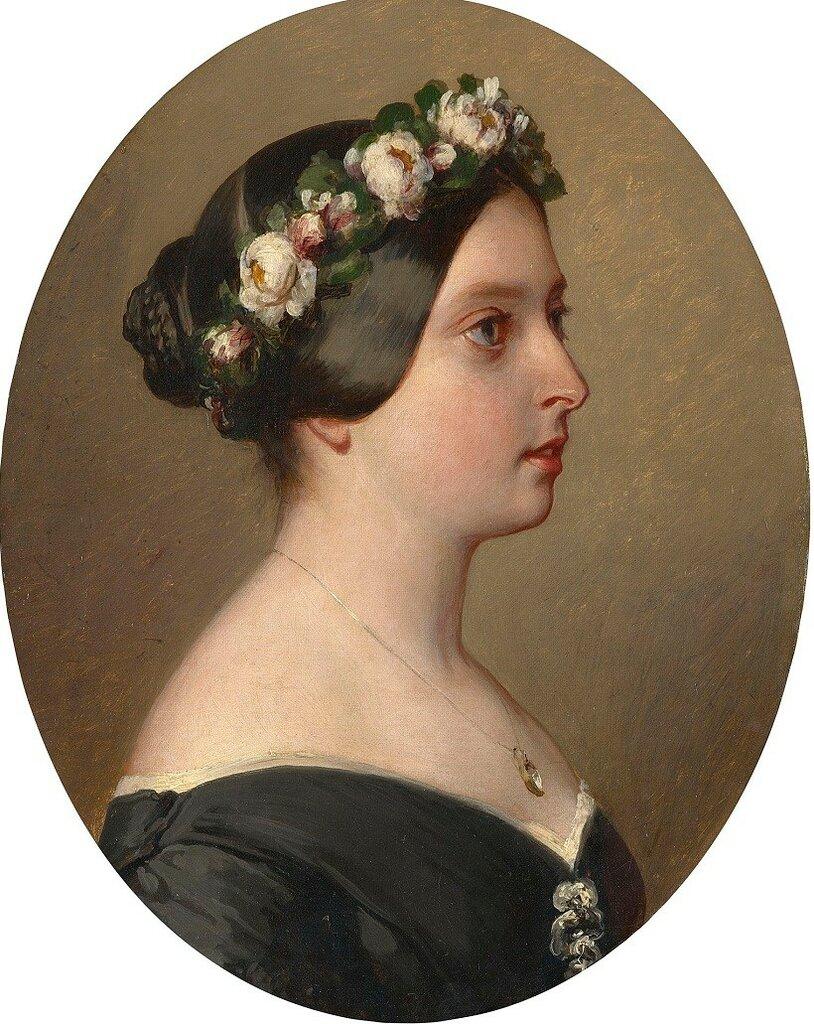 Королева Виктория (1819-1901)  Подпись и дата +1844