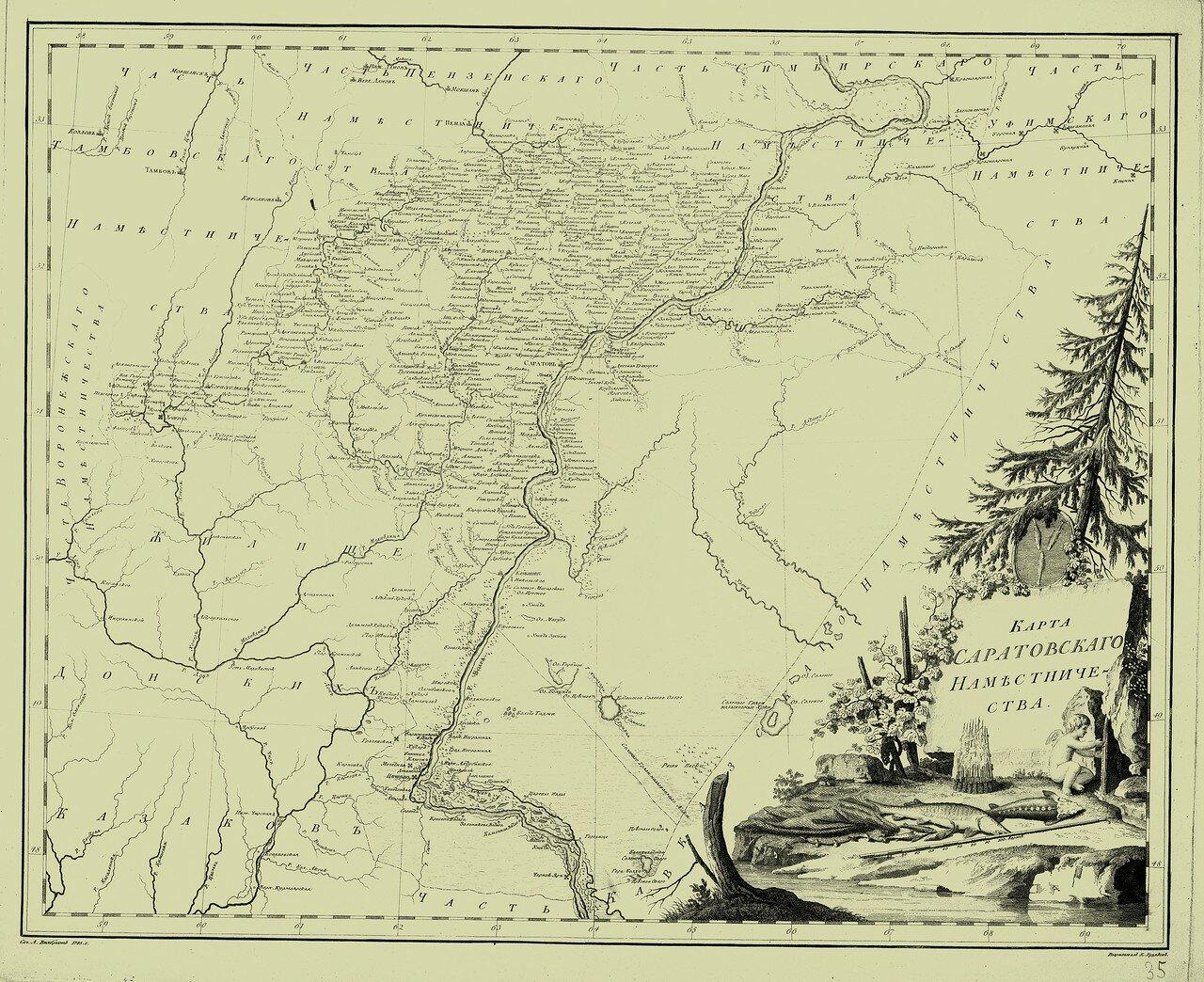 35. Карта Саратовского наместничества