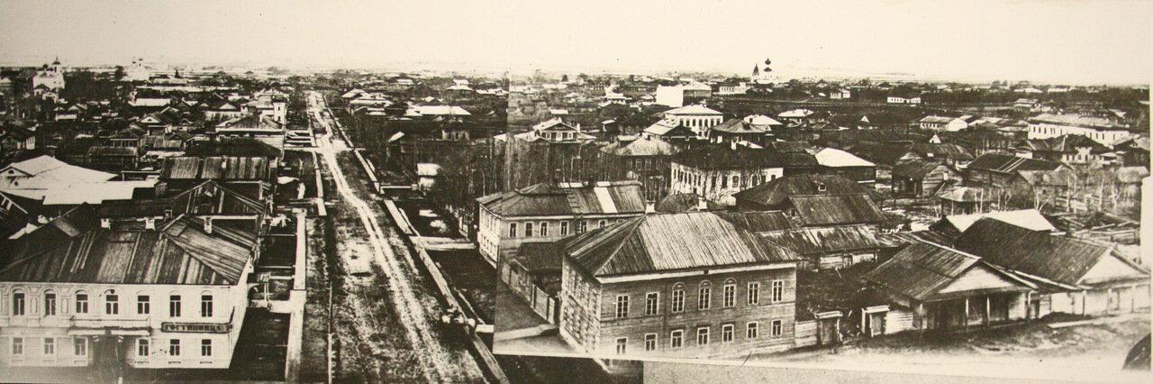 Общий вид Вологды в 1860-х годах (гостиница «Лондон»).