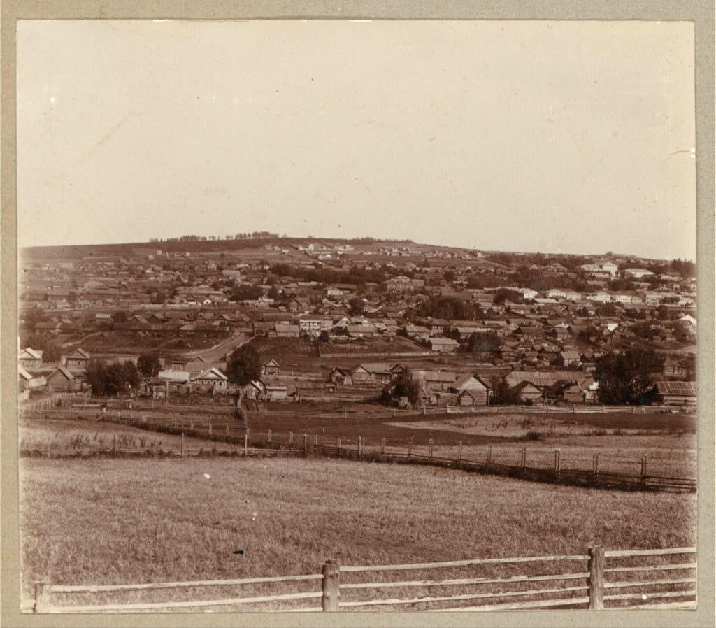 Вид на поселения Кушвинского завода. 1909