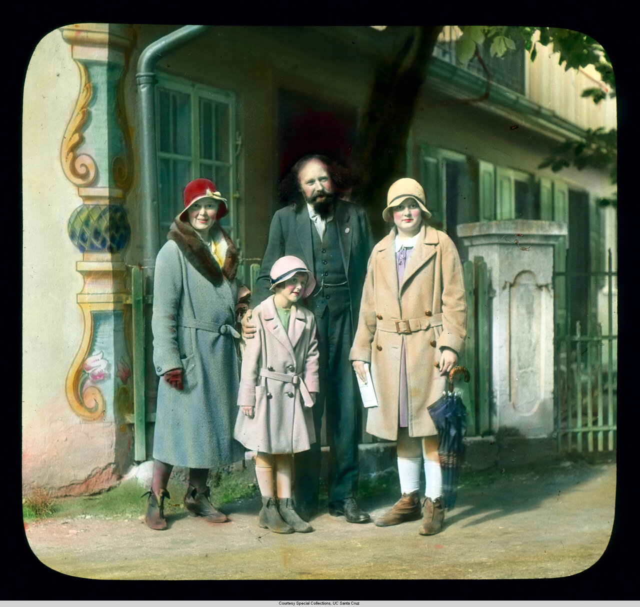 Обераммергау. Страсти Христовы. Алоис Лэнг (Иисус в пьесе 1930 г.) с туристами