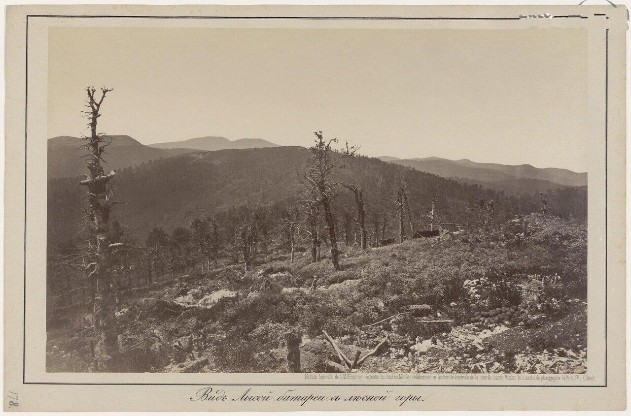 Вид Лысой батареи с лесной горы. 1877 г.