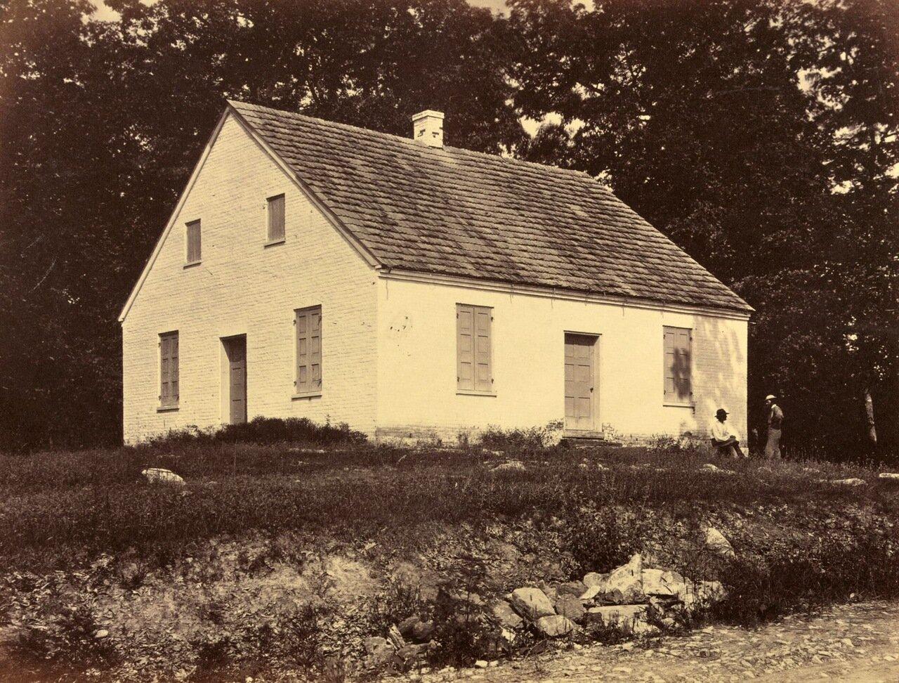 «Данкер Черч», здание, принадлежавшее церкви немецких баптистов. Место боев во время сражения при Энтитеме. Мэриленд. Сентябрь 1862
