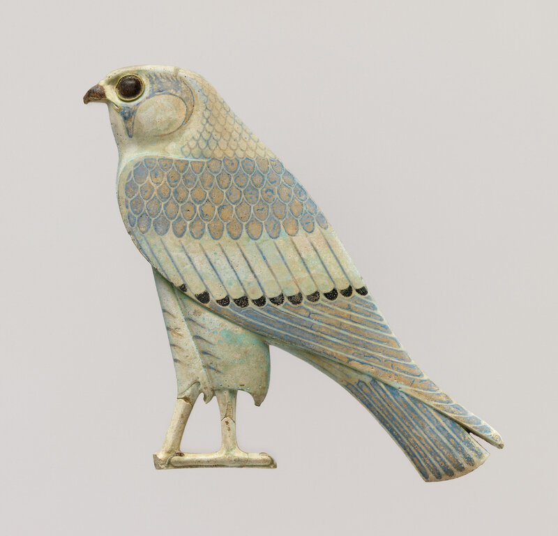 Horus falcon inlay, made in Egypt in the 4th century