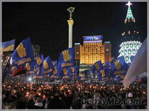 «Свобода» прошла маршем в честь Бандеры по Киеву