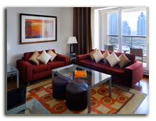 ОАЭ. Дубаи. UAE. Grosvenor House, Dubai. Apartments – Living Room
