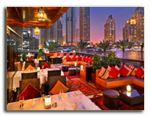ОАЭ. Дубаи. UAE. Grosvenor House, Dubai. Ottomans Restaurant – Terrace