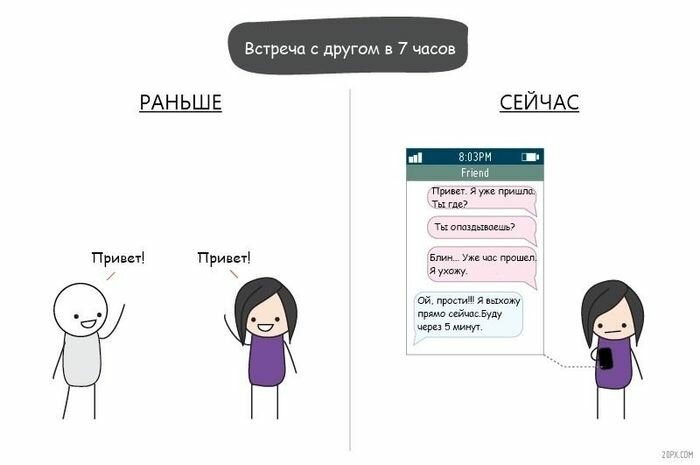 Жизнь с мобильником и без него (5 фото)