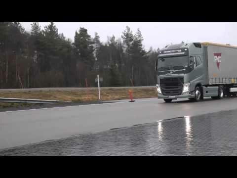 Система экстренного торможения грузовика