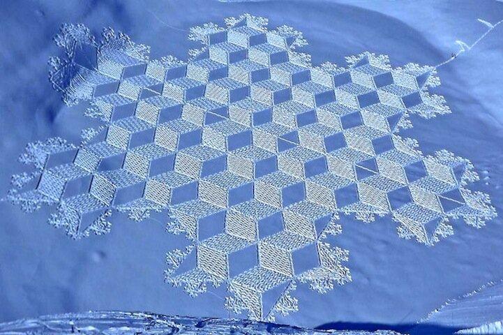 Отдых в горах и снежные узоры