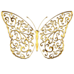 Gold Ornate Butterfly 3.png