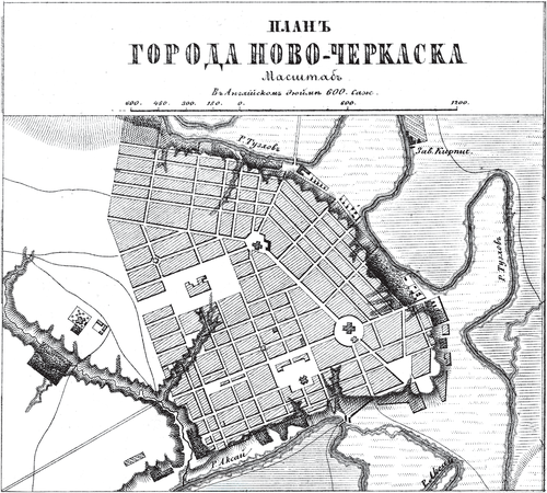 Генплан города Новочеркасска на 1876 год