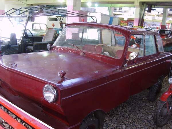 самодельный автомобиль-амфибия