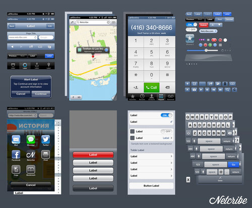 Netcribe: iOS 6 GUI PSD (iPhone 5)