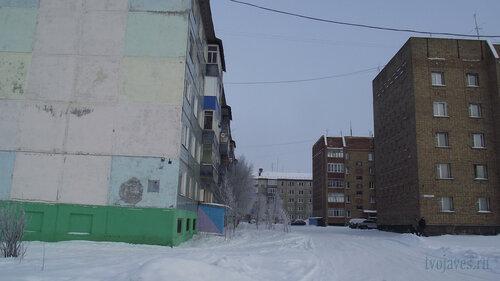 Фото города Инта №3496  Морозова 12, 10, 8 и 6 10.02.2013_12:04