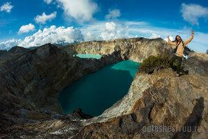 Индонезия, вулкан Келимуту