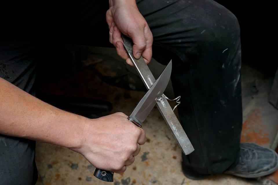 Ножи кованные из цепей…
