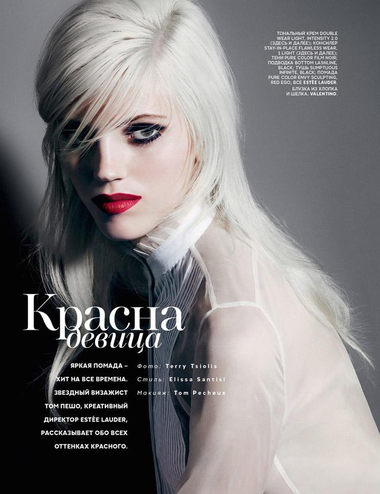 Карла Киффони и Девон Виндзор в июльском Vogue Russia 2014 (6 фото)