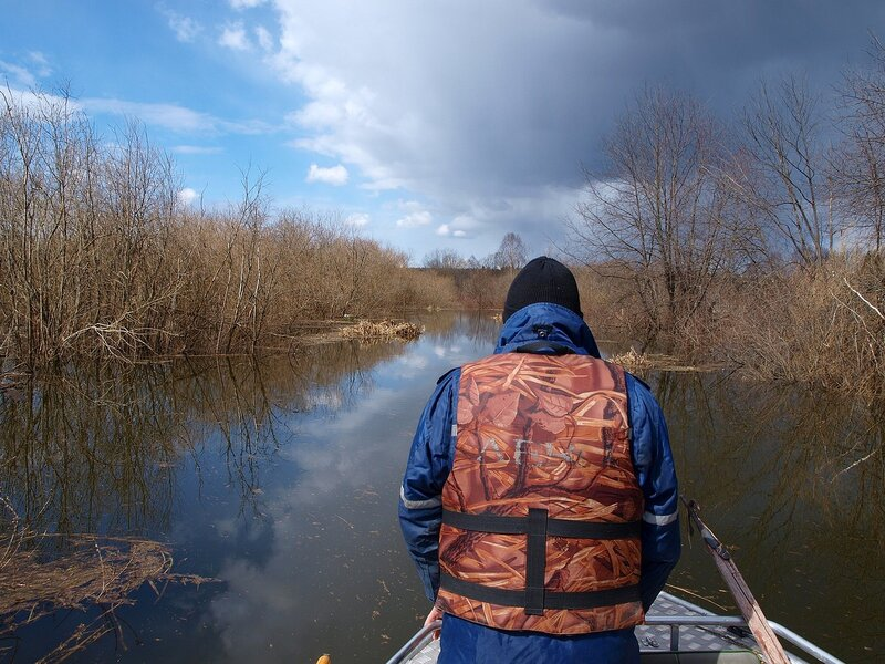 На лодке по Елховке