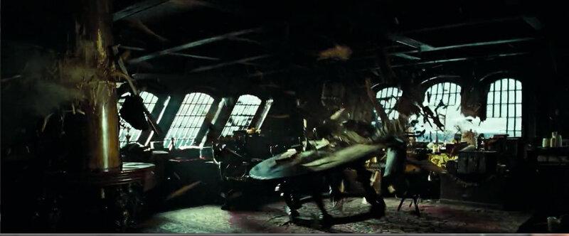 Собери Чёрную Жемчужину. Корма и каюта капитана