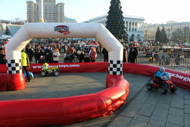 Автодром для детей в центре Киева