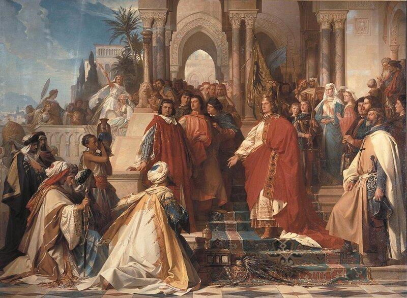 Артур Георг фон Рамберг. «Двор Императора Фридриха II Гогенштауфена в Палермо»