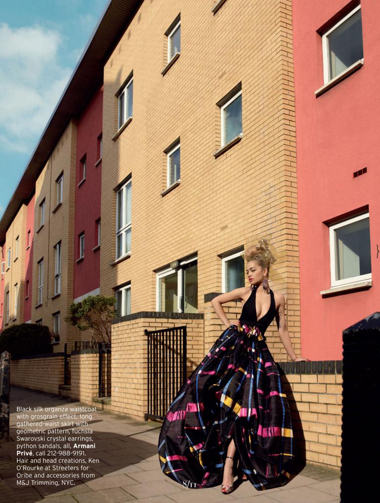 британская певица Рита Ора (Rita Ora) в журнале Elle US, май 2013 / фотограф Thomas Whiteside