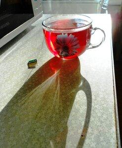 Разреши предложить тебе чашку горячего чая...