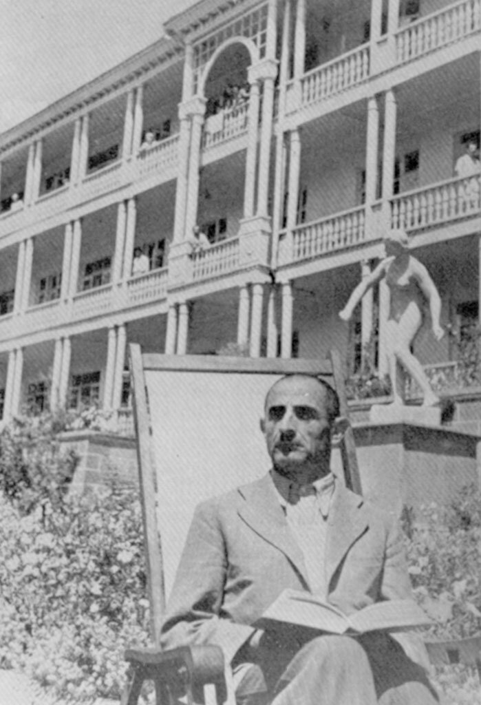 Один из репатриантов в санатории Дилижана