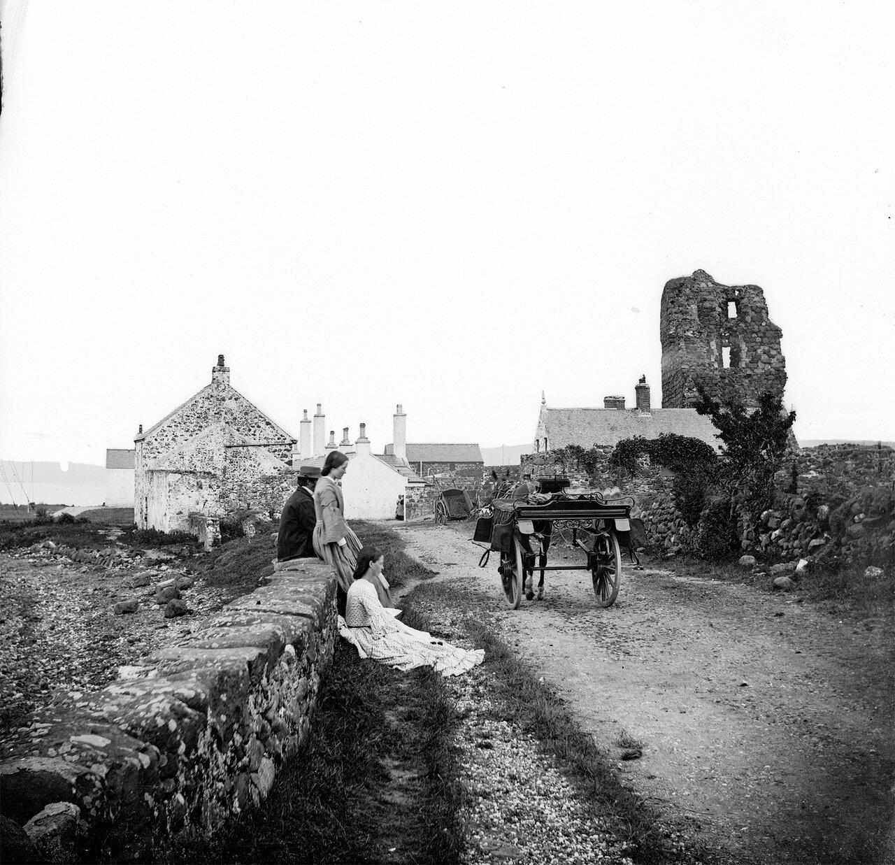 Руины замка Олдерфлит, Ларн. 1860.