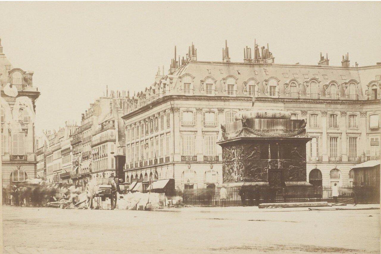 1871. Вандомская Колонна после ее падения