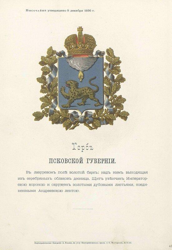 Псковская губерния 1880 год