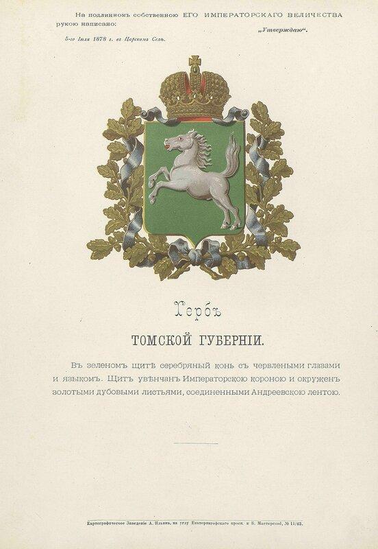 Томская губерния 1880 год