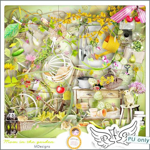 Летний скрап-набор Mom In The Garden